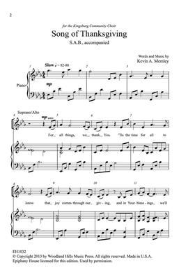 Kevin Memley: Song of Thanksgiving: SAB