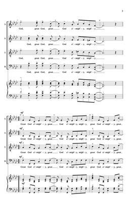 Great God Almighty: Arr. (Stacey V. Gibbs): Double Choir