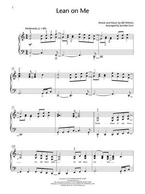 Bill Withers: Lean on Me: Arr. (Jennifer Linn): Piano