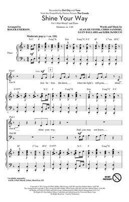 Owl City: Shine Your Way: Arr. (Roger Emerson): 3-Part Choir