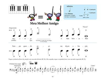 Piano Lessons, Book 1 - Portuguese Edition: Piano