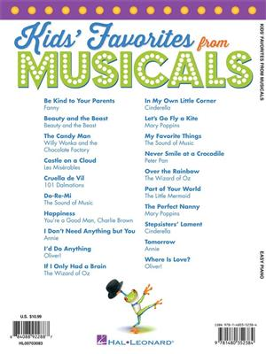 Kids' Favorites from Musicals: Easy Piano