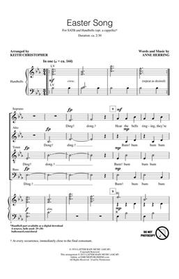 Anne Herring: Easter Song: Arr. (Keith Christopher): SATB