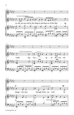 Simon Lole: An Evening Collect: 2-Part Choir