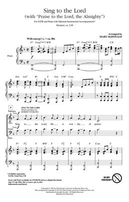 Robert Sterling: Sing to the Lord: Arr. (Mary McDonald): SATB
