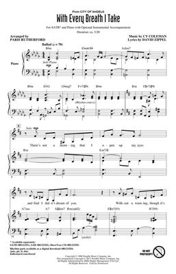 Cy Coleman: With Every Breath I Take (from City of Angels): Arr. (Paris Rutherford): SATB