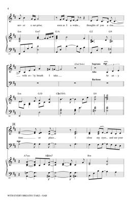 Cy Coleman: With Every Breath I Take (from City of Angels): Arr. (Paris Rutherford): SAB