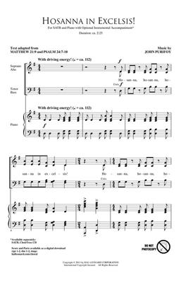 John Purifoy: Hosanna in Excelsis!: SATB