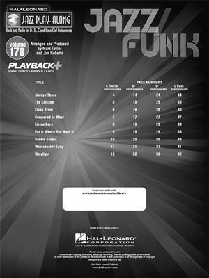 Jazz Funk - 9 Favorite Tunes: C/ B-Flat/E-Flat and Bass Instruments