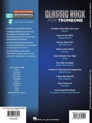 Easy Instrumental Play Along: Classic Rock: Trombone