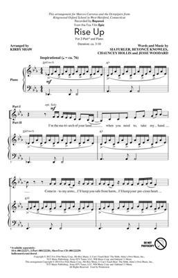 Beyoncé Knowles: Rise Up: Arr. (Kirby Shaw): 2-Part Choir