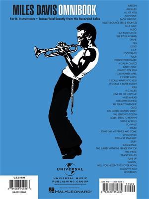 Miles Davis: Miles Davis Omnibook: B-Flat Instrument