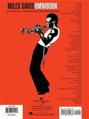 Miles Davis: Miles Davis Omnibook: C Clef Instrument