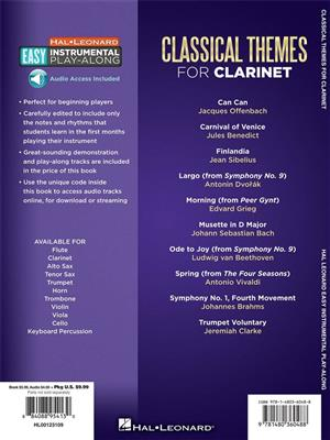 Easy Instrumental Play-Along: Classical Themes: Clarinet