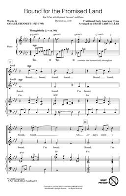 Bound for the Promised Land: Arr. (Cristi Cary Miller): 2-Part Choir