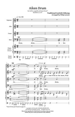 Aiken Drum: Arr. (Philip Lawson): SATB