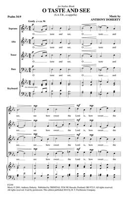 Anthony Doherty: O Taste and See: SATB