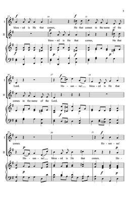 Christian Gregor: Hosanna: Arr. (James Christian Pfohl): 2-Part Choir