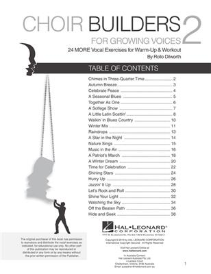 Rollo Dilworth: Choir Builders for Growing Voices 2: Mixed Choir