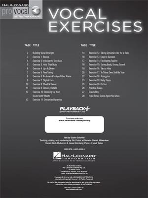 Vocal Exercises for Building Strength, Endurance: Melody, Lyrics and Chords