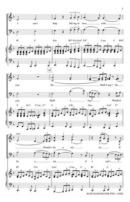George David Weiss: Slow Dancing for Two: Arr. (Kirby Shaw): SATB