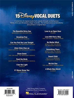15 Disney Vocal Duets: Vocal Duet