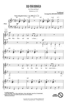 Old MacDonald: Arr. (Roger Emerson): 2-Part Choir