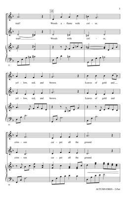 George L.O. Strid: Autumn Fires: 2-Part Choir