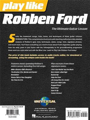 Robben Ford: Play like Robben Ford: Guitar Solo