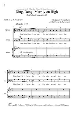 Ding Dong Merrily on High: Arr. (George Hernandez): SATB