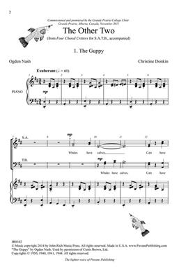 Christine Donkin: Four Choral Critters - The Other Two: SATB