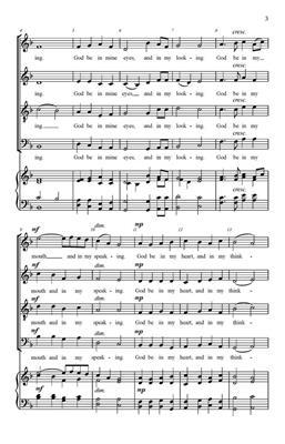 James Gossler: An Old English Prayer: SATB