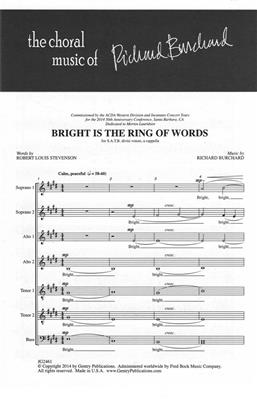 Richard Burchard: Bright Is the Ring of Words: Double Choir