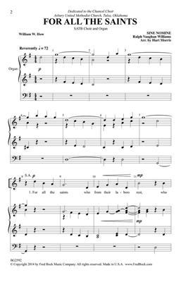 Ralph Vaughan Williams: For All the Saints: Arr. (Hart Morris): SATB