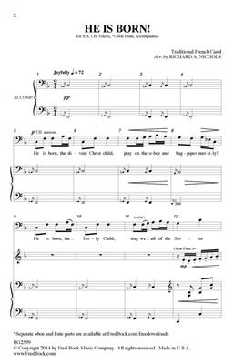 Traditional: He Is Born: SATB