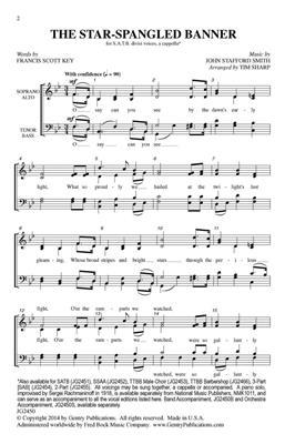 John Stafford Smith: The Star-Spangled Banner: Arr. (Tim Sharp): Double Choir