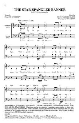 John Stafford Smith: The Star-Spangled Banner: Arr. (Tim Sharp): SATB