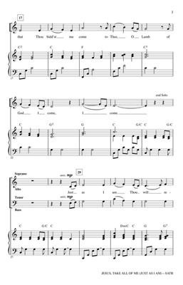 Amy Grant: Jesus, Take All of Me: Arr. (Heather Sorenson): SATB