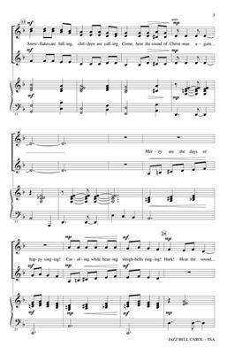 Jazz Bell Carol: Arr. (John Purifoy): SSA