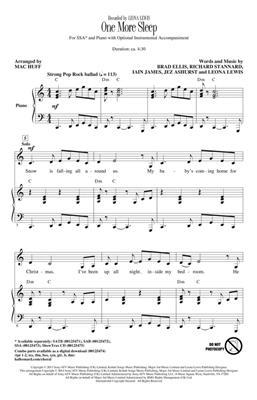 Leona Lewis: One More Sleep: Arr. (Mac Huff): SSA