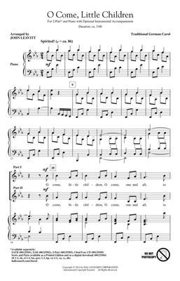 O Come, Little Children: Arr. (John Leavitt): 2-Part Choir