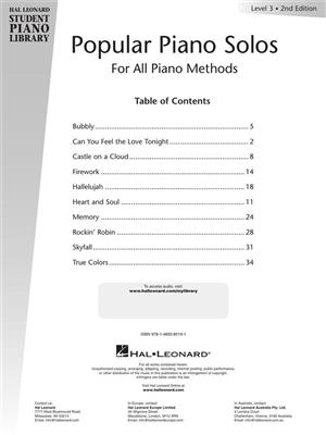 Fred Kern: Popular Piano Solos 2nd Edition -Level 3: Piano or Keyboard
