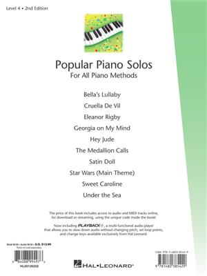 Fred Kern: Popular Piano Solos 2nd Edition -Level 4: Piano or Keyboard