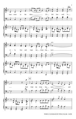 When I Can Read My Title Clear: Arr. (John Purifoy): SATB