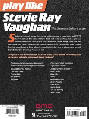 Andy Aledort: Play like Stevie Ray Vaughan: Guitar or Lute