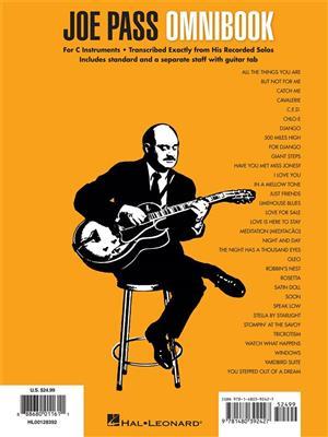 Joe Pass: Joe Pass Omnibook: C Clef Instrument