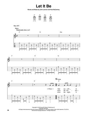 The Beatles: 22 Classics Arranged For 5-String Banjo: Banjo or Mandolin