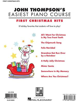 First Christmas Hits: Arr. (Carolyn Miller): Piano