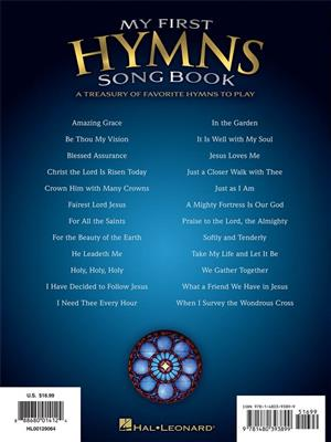 My First Hymns Song Book: Easy Piano
