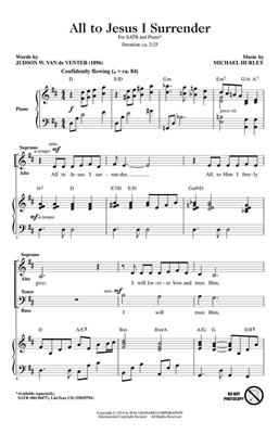 Michael Hurley: All to Jesus I Surrender: SATB